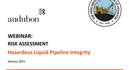 Risk Assessment Hazardous Liquid Pipeline Integrity