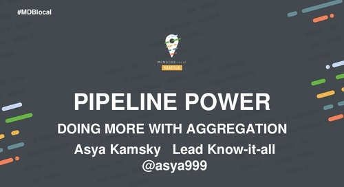 """""""Powerful Analysis with the Aggregation Pipeline (Tutorial)"""""""