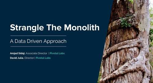 Strangle The Monolith: A Data Driven Approach