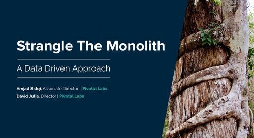 Strangle The Monolith: A Data Driven Approach