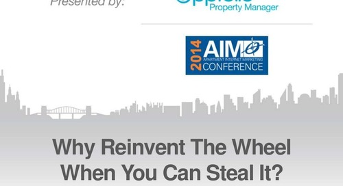 Why Reinvent The Wheel When You Can Steal It? (Property Management Industry)