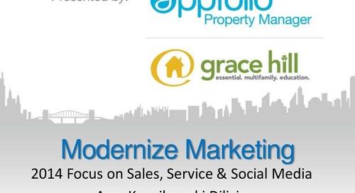 Modernize Your Marketing For 2014 | Webinar with Amy Kosnikowki (Property Management Industry)