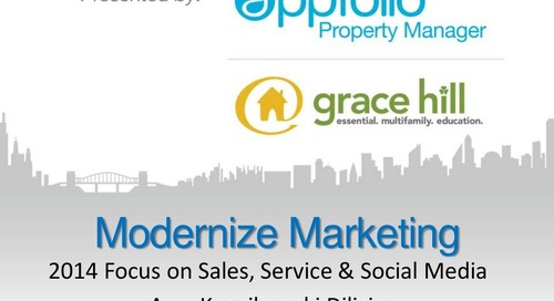 Modernize Your Marketing For 2014 | Webinar with Amy Kosnikowki (Property Management Industry)