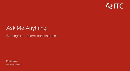 Ask Me Anything: Bob Ingram of Peachstate Insurance