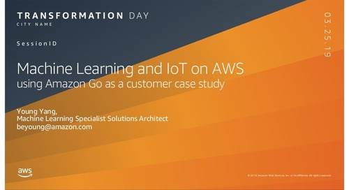 Machine Learning and IoT on AWS