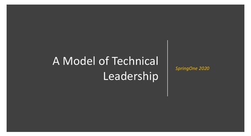 A Model of Technical Leadership