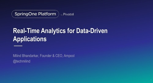Real-time Analytics for Data-Driven Applications