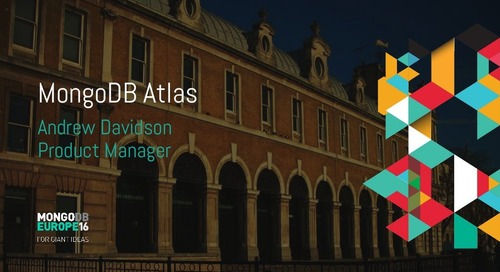MongoDB Europe 2016 - MongoDB Atlas