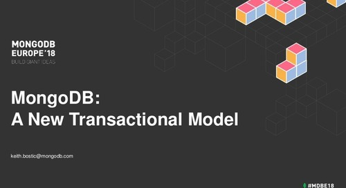 A New Transactional Model - Keith Bostic