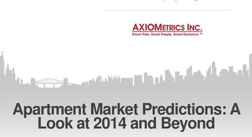 Apartment Market Predictions: A Look at 2014 and Beyond