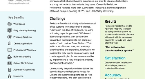 Redstone Residential Leverages AppFolio Property Manage to Effectively Handle Student Housing at Four Universities