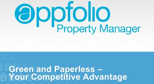 Green & Paperless - A Property Manager's Competitive Advantage