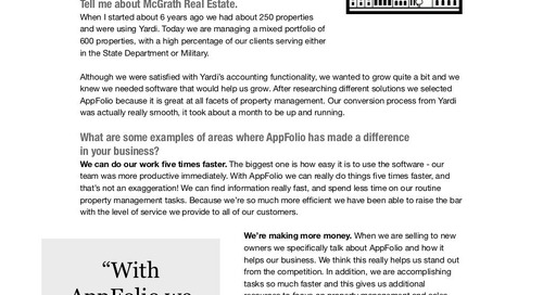 McGrath Real Estate: AppFolio Success Story
