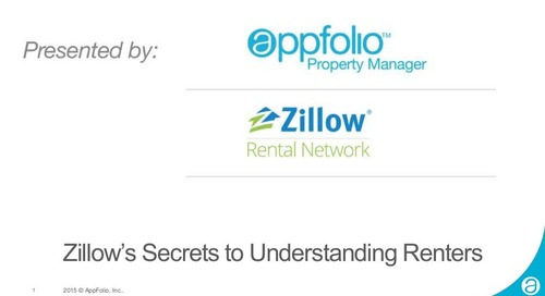 AppFolio Webinar: Zillow's Secrets to Understanding Renters