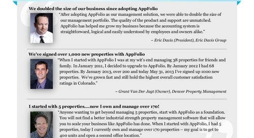 Property Management Companies Rely on AppFolio's Property Management Software to Grow Even Faster