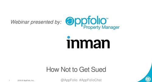 How Not to Get Sued with Puneet Singh and AppFolio