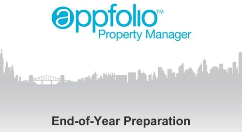AppFolio End of Year Preparation