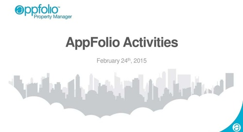 Managing Activities in AppFolio - Webinar