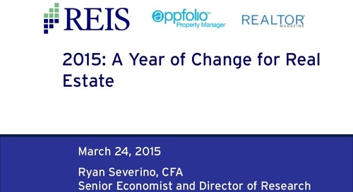 AppFolio Webinar: First Look at 2015: Early Economic Forecast for Property Managers
