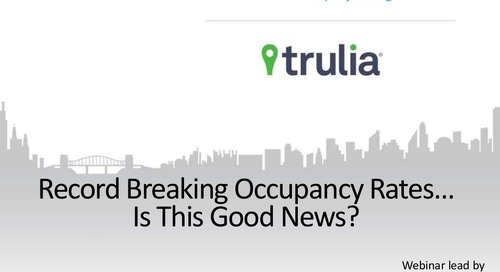 Record Breaking Occupancy Rates....Is This Good News? (Property Management Industry)