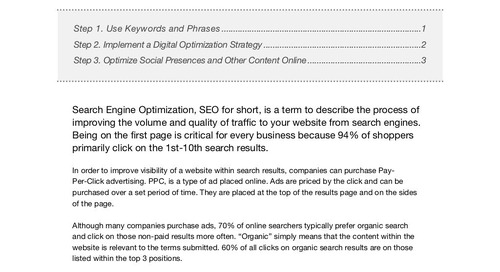 3 Steps to Improving Search Rankings (eBook)