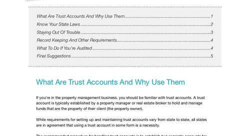 Trust Accounting for Property Managers (eBook)