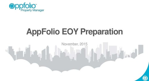 2015 AppFolio End of Year Preparation Webinar