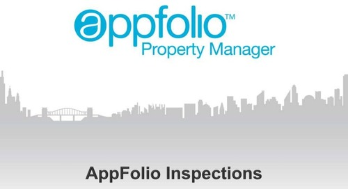 AppFolio Mobile Inspections Module