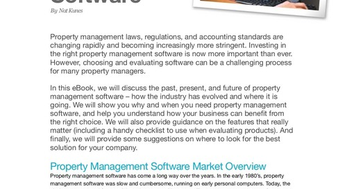 How to Select the Best Property Management Software (eBook)