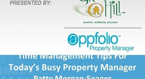 AppFolio / GraceHill Time Management Webinar for Property Managers