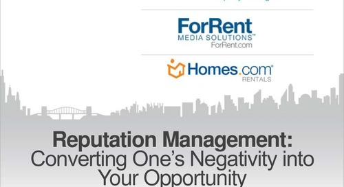 Secrets to Effective Reputation Management (Property Management Industry)