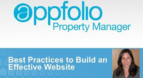 AppFolio Presents Website Best Practices