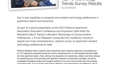What Do Residents Want? Top 10 Technology Trends Survey Results (eBook)