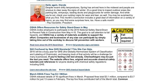 April 2015 ComplianceSigns Connection Newsletter