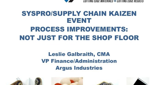 Argus Industries- Supply Chain Kaizen with SYSPRO ERP