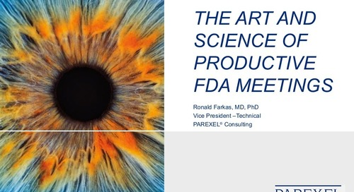 The Art and Science of Productive FDA Meetings
