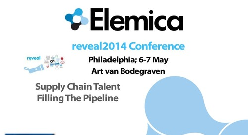 "reveal2014 NA Talent Breakout – Art van Bodegraven, VBA: ""The Supply Chain Talent Shortfall"""