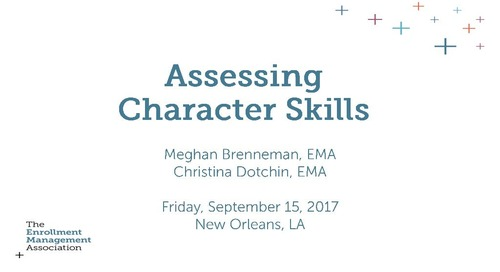 Assessing Character Skills