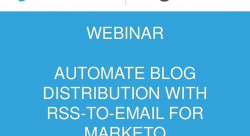 Automate blog distribution with rss to-email for marketo