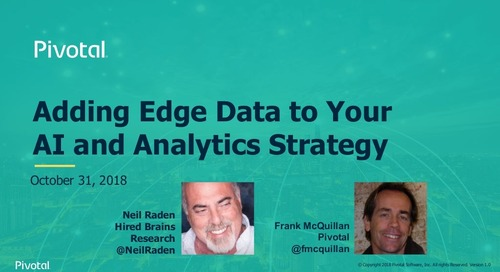 Adding Edge Data to Your AI and Analytics Strategy