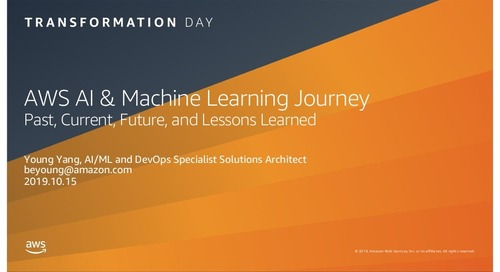AWS AI and Machine Learning Journey