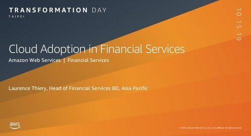 Cloud Adoption in Financial Services