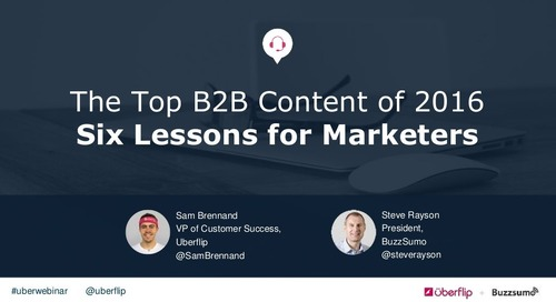 The Top B2B Content of 2016: Six Lessons for Marketers