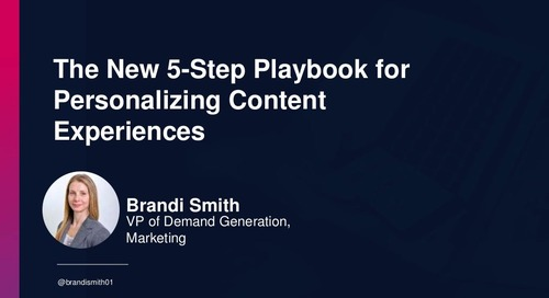 The New 5-Step Playbook for Personalizing Content Experiences at Scale