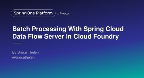 Case Study of Batch Processing With Spring Cloud Data Flow Server in Cloud Foundry