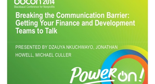 Breaking the Communication Barrier: Getting Your Finance and Development Teams to Talk (for Raiser's Edge Users)