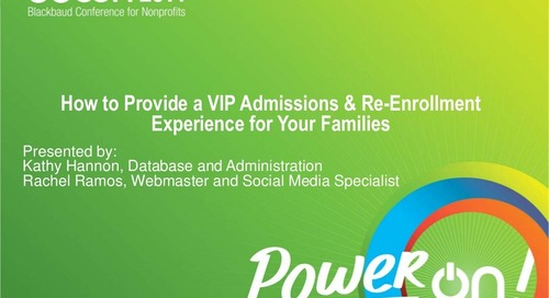 Creating a VIP Admissions and Re-Enrollment Experience