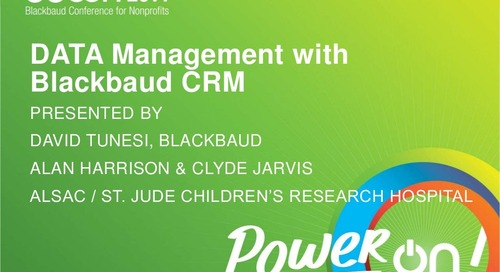 Big Data Management with Blackbaud CRM