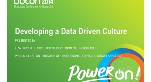 Developing a Data-Driven Major Gift Culture
