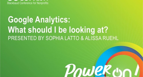 Google Analytics: What Should I Be Looking At?